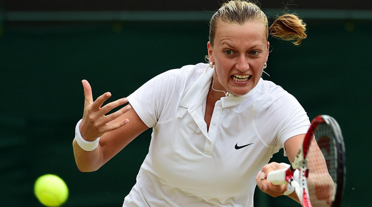 Petra Kvitova advanced to the Wimbledon quarterfinals for the fifth year in a row.