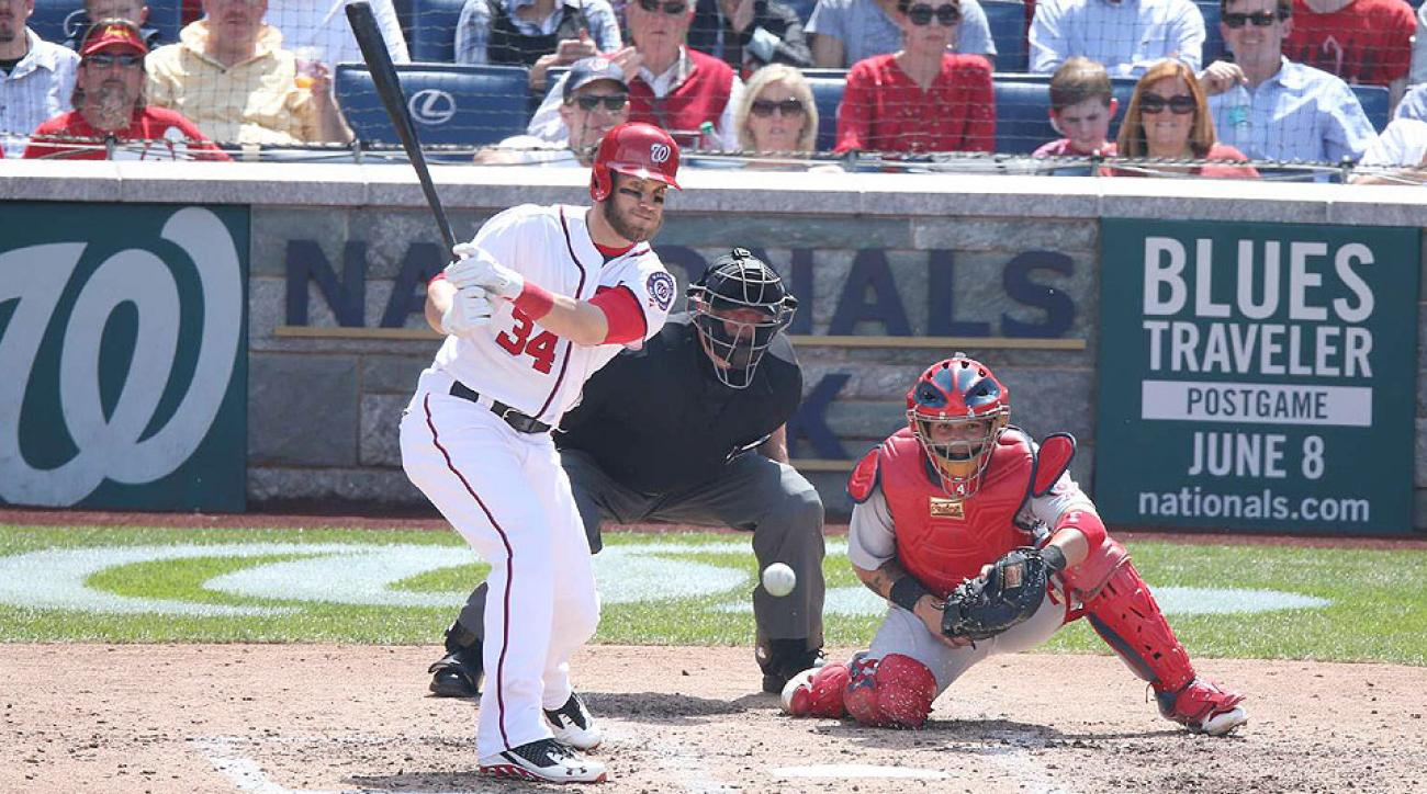The Nationals' Bryce Harper went 1-for-3 with one RBI at the plate in his anticipated return from the disabled list.