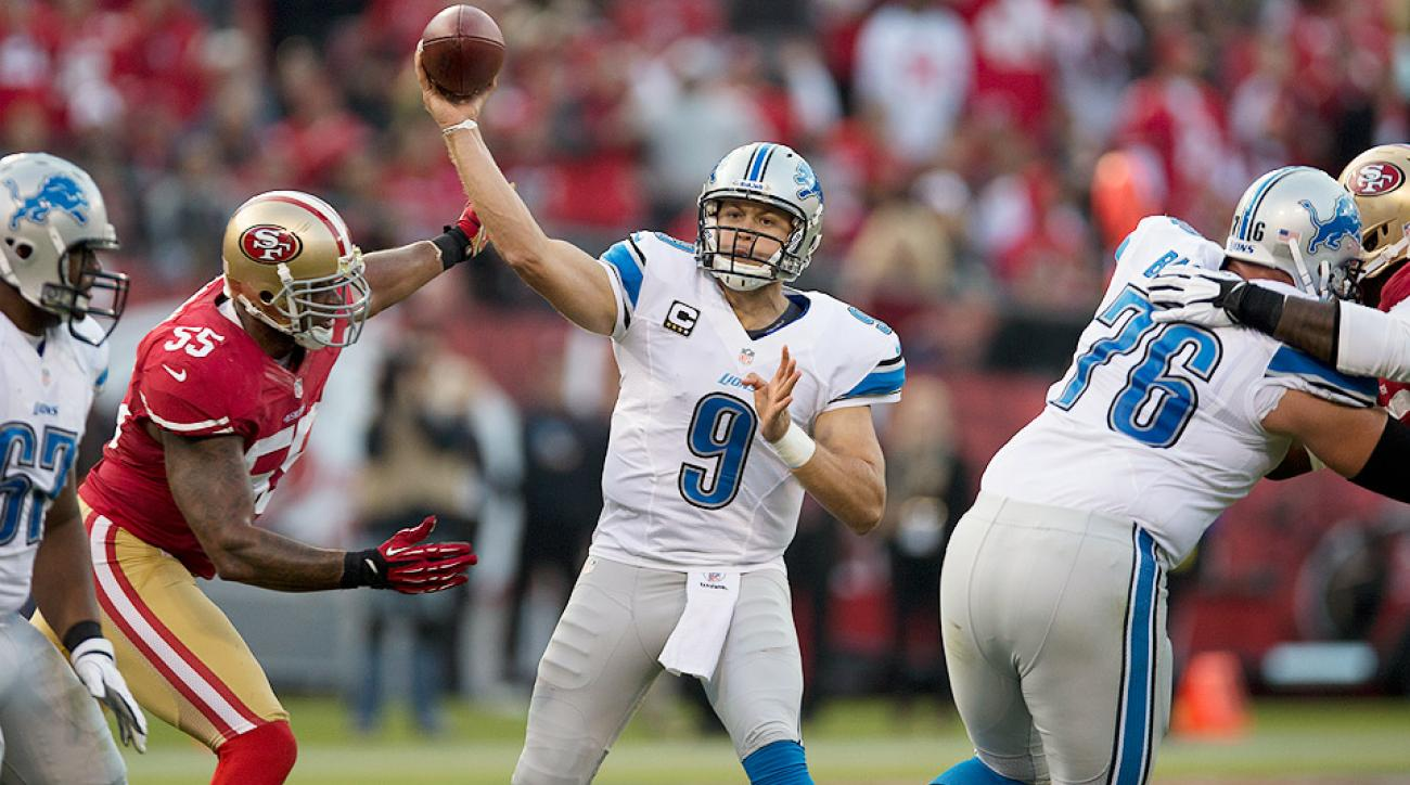 The Lions will go as far as Matthew Stafford (center) can take them in 2014.
