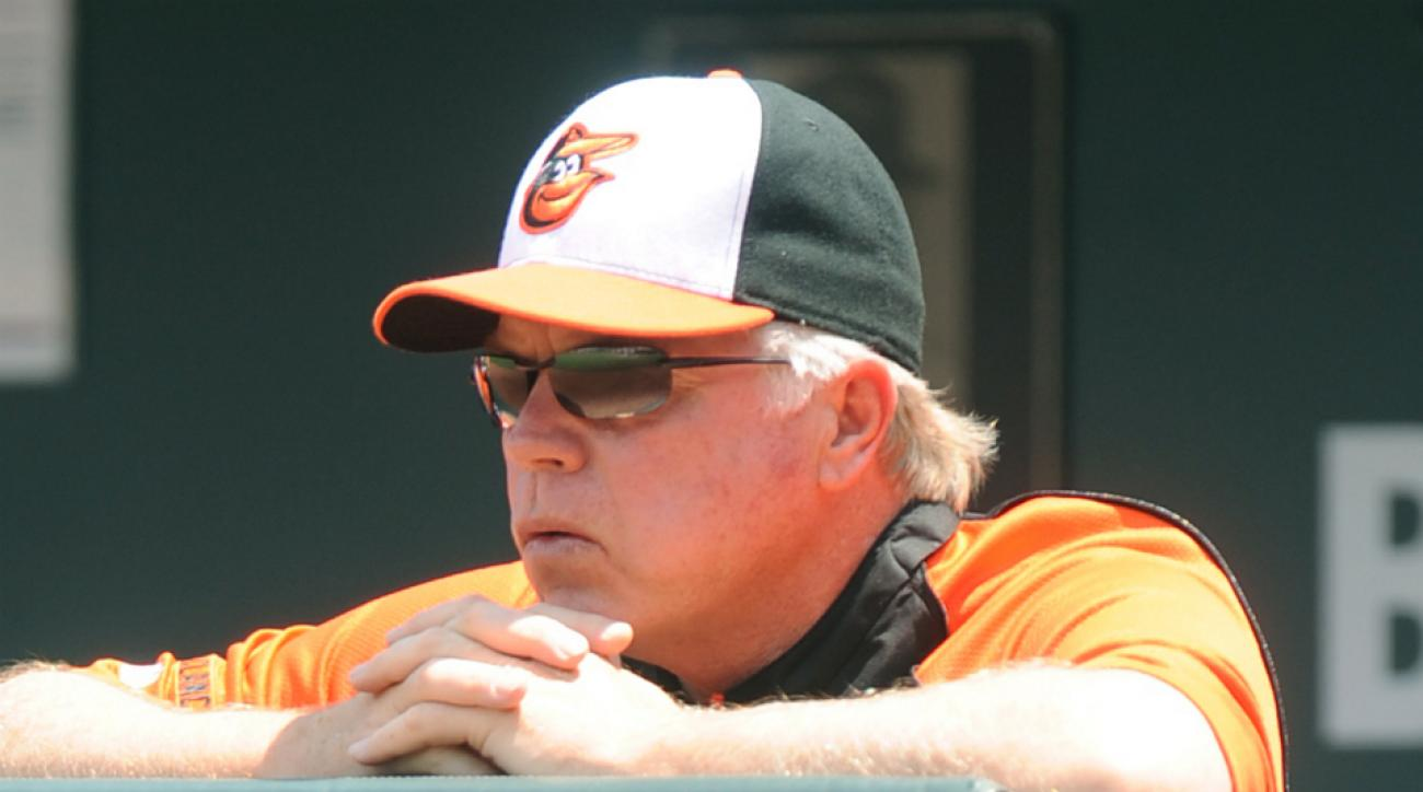 Buck Showalter was not pleased about John Lackey's comments on Nelson Cruz. (