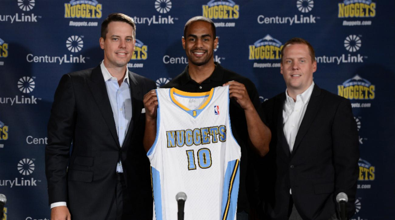 The Denver Nuggets acquired guard Aaron Afflalo from the Orlando Magic.