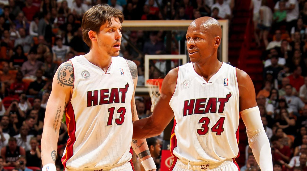 Ray Allen Mike Miller Cleveland Cavaliers Heat LeBron