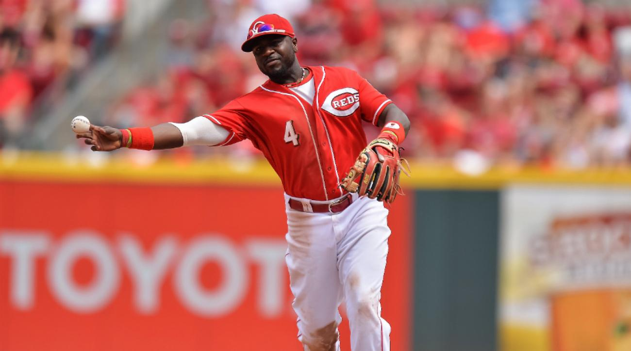 Brandon Phillips could be out for a while with a thumb ligament injury