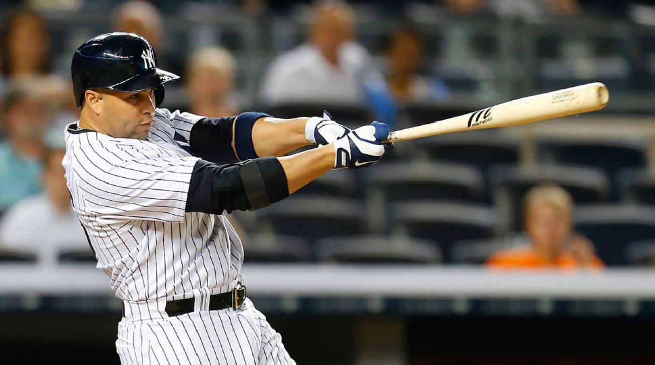 Yankees outfielder Carlos Beltran broke his nose in batting practice