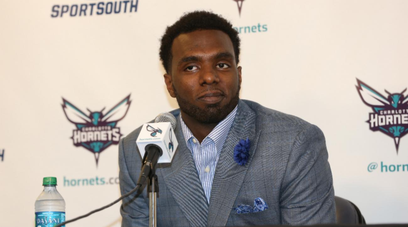 The Hornets' P.J. Hairston had a chance encounter with the Browns' Josh Gordon