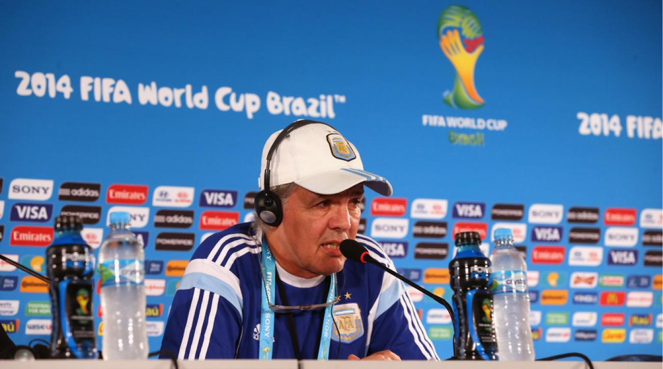 Argentina manager Alejandro Sabella has attended the team's last four pre-match press conference unaccompanied by a player, which has cost the nation's FA.