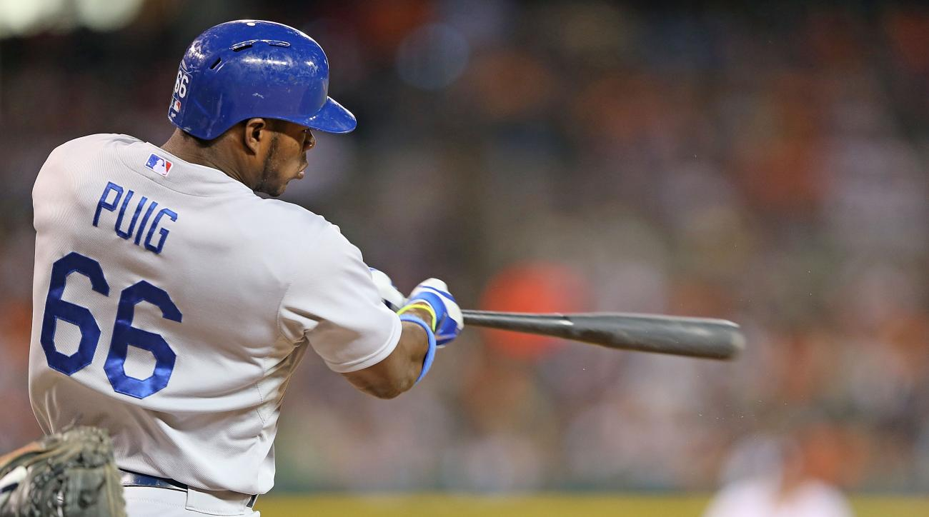 The Los Angeles Dodgers' Yasiel Puig will represent the National League in the Home Run Derby
