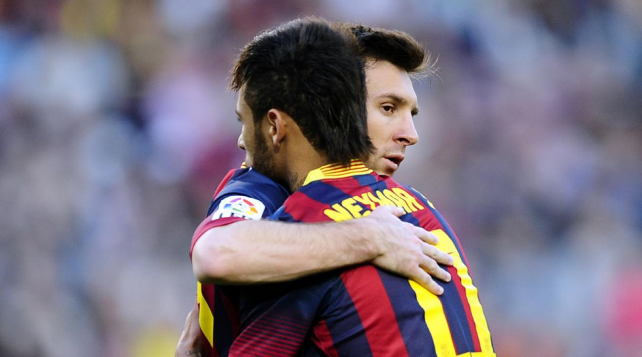 Neymar is rooting for his FC Barcelona teammate Messi in World Cup