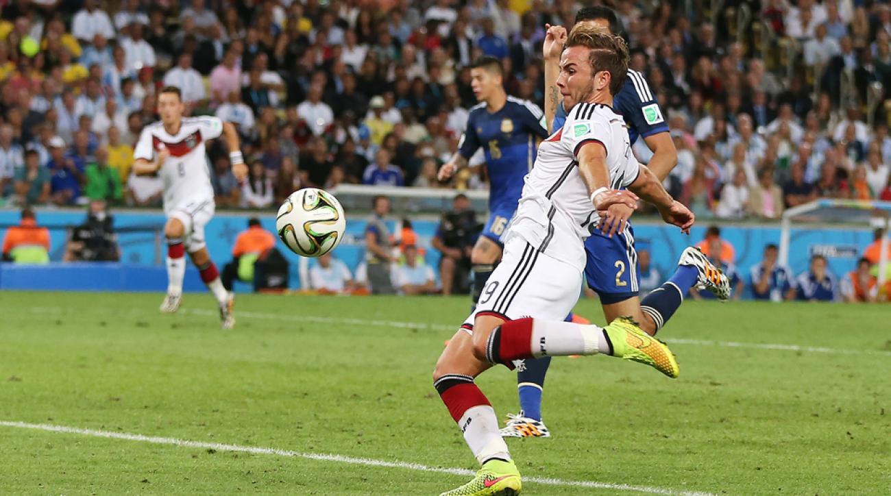 Image result for mario gotze goal argentina