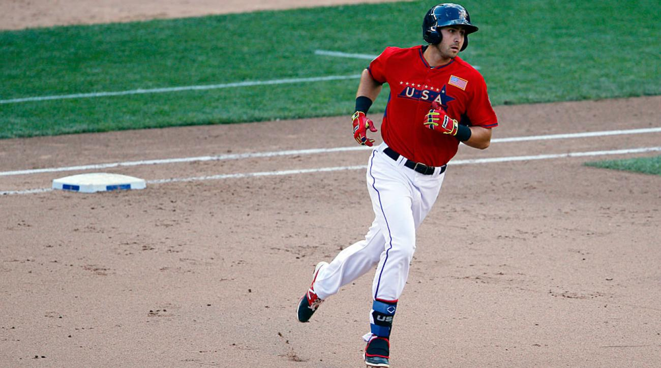 Texas Rangers third base prospect Joey Gallo won Futures Game MVP honors during All-Star weekend thanks to a long two-run home run, estimated at 419 feet.