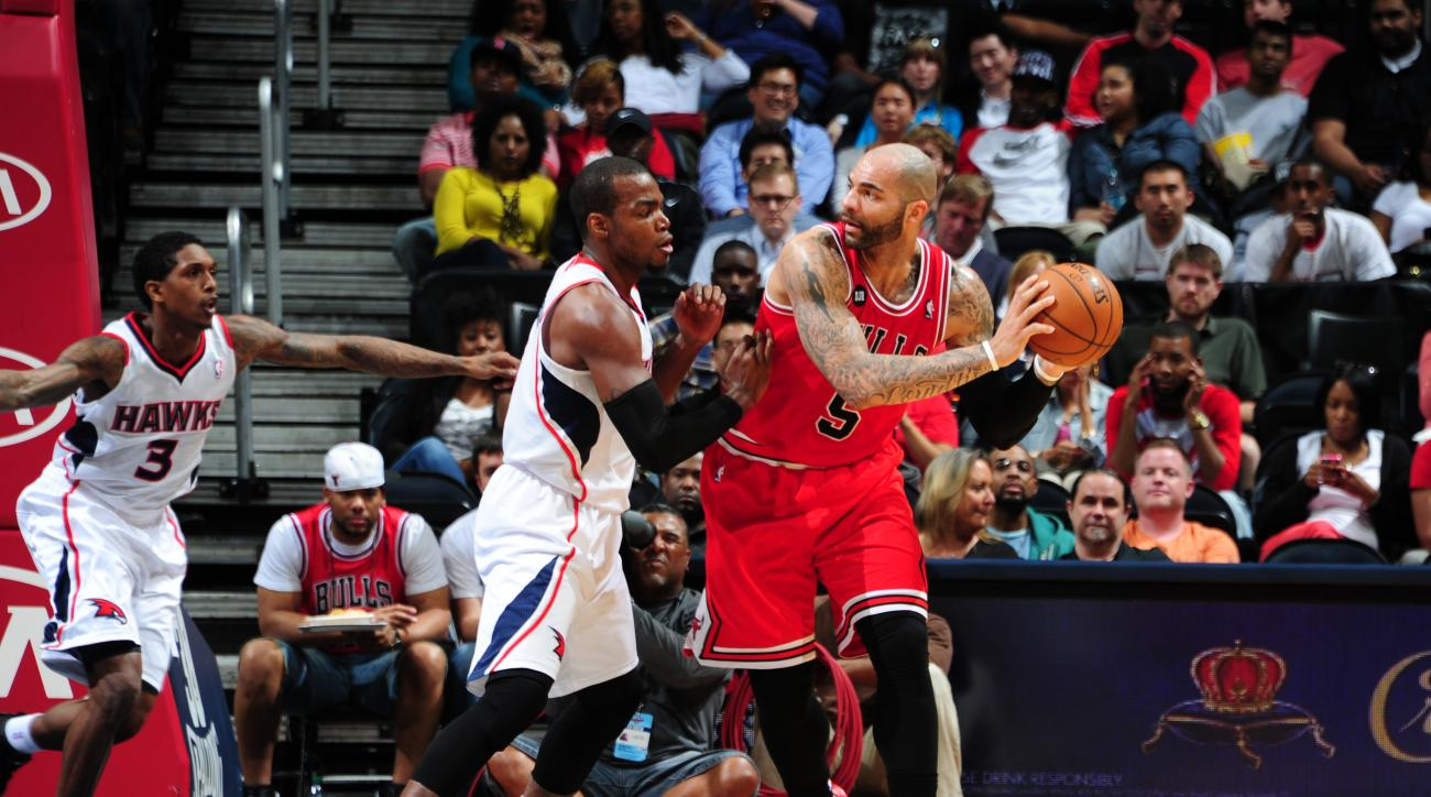 Carlos Boozer was amnestied by the Chicago Bulls Tuesday