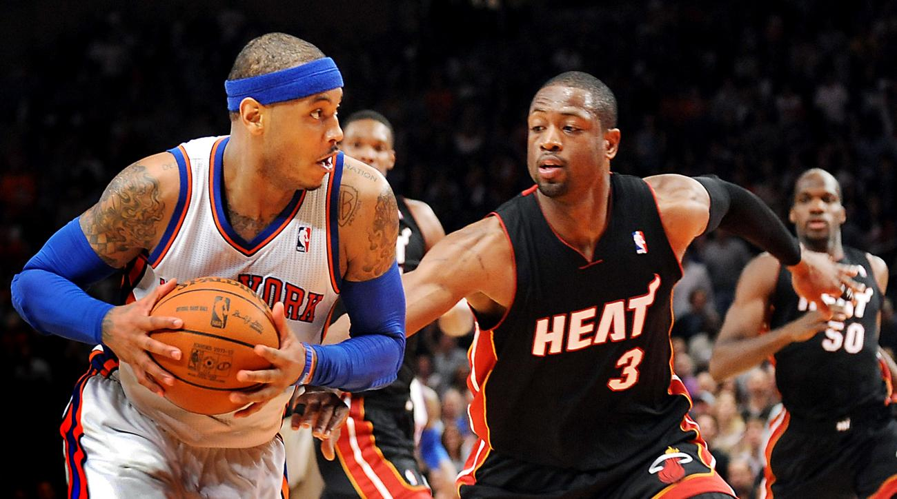Carmelo Anthony and Dwyane Wade each received no-trade clauses in their new contracts