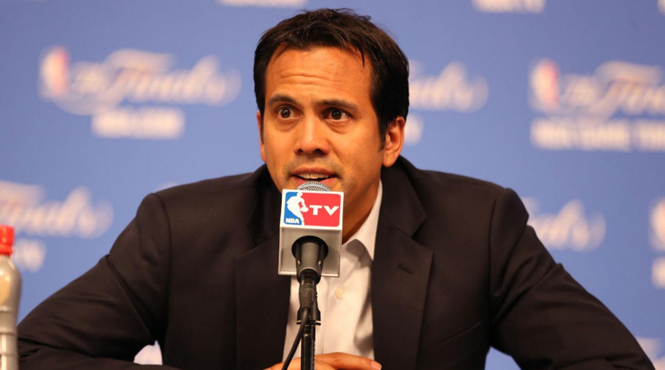 Erik Spoelstra spoke about LeBron's return to Cleveland