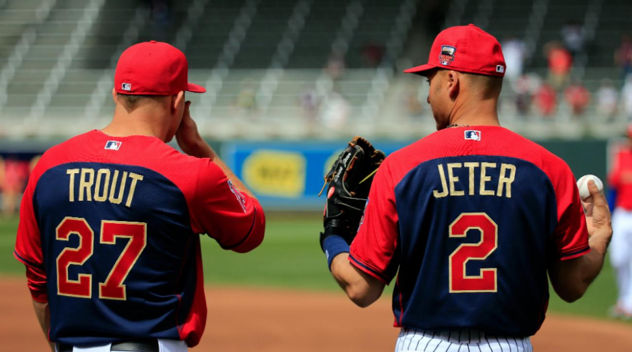 Derek Jeter passed the torch to Mike Trout in the All-Star Game