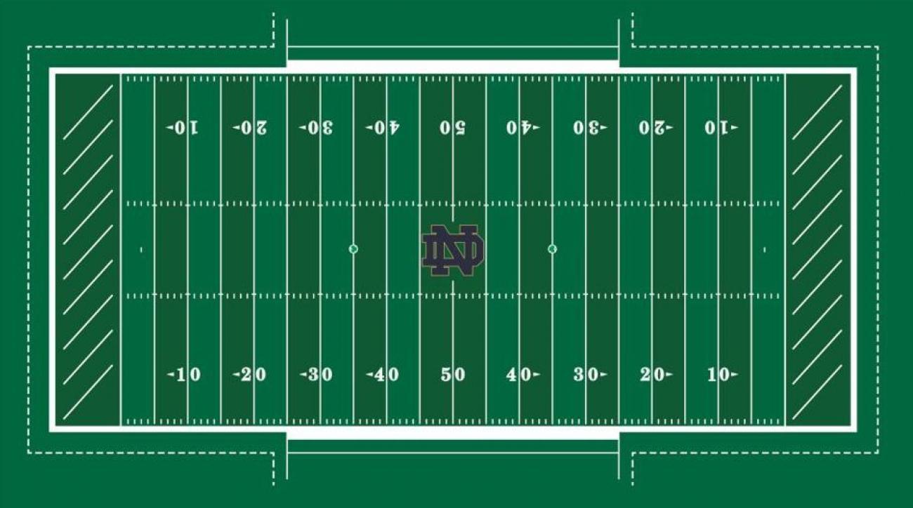 Notre Dame released new FieldTurf design