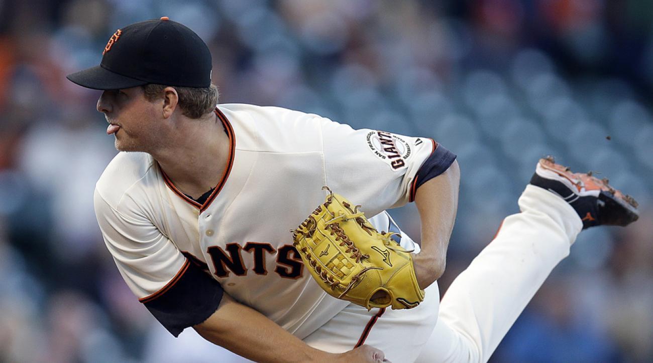 San Francisco Giants place pitcher Matt Cain on disabled list