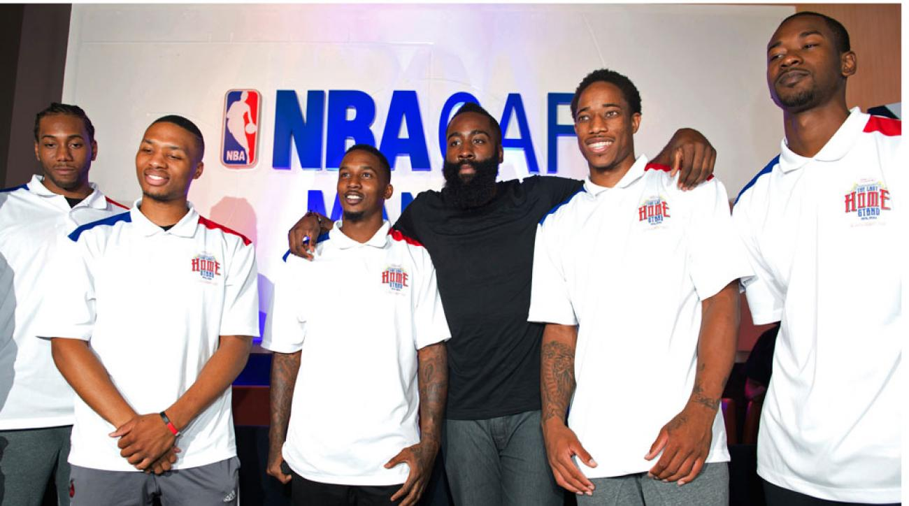 NBA stars gather in Manila for a charity exhibition that was later canceled.