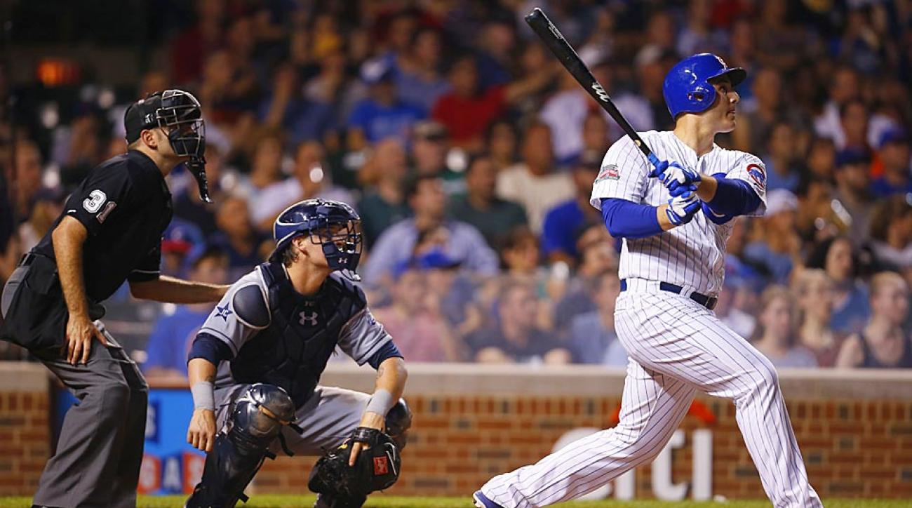 Chicago first baseman Anthony Rizzo promised a Cubs fans and cancer patient he would hit a home run for him and he did — twice.