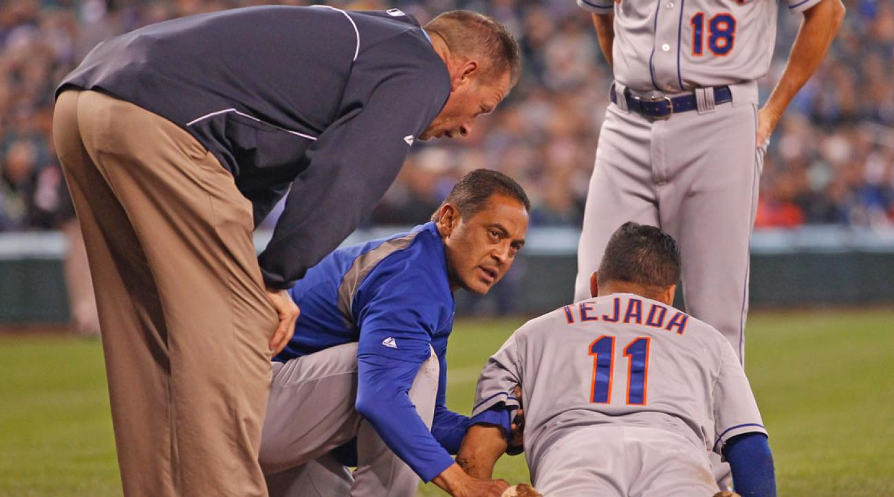 ruben tejada hit in head with pitch