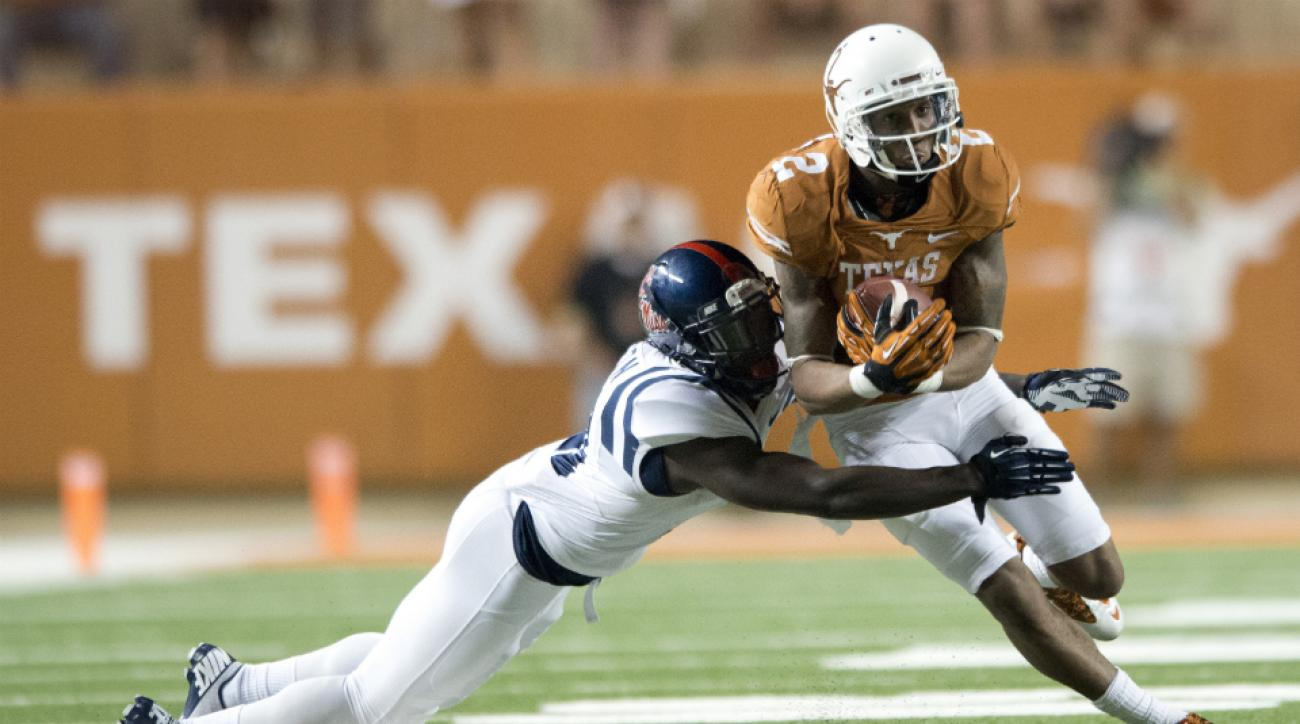 Texas wide receiver Kendall Sanders