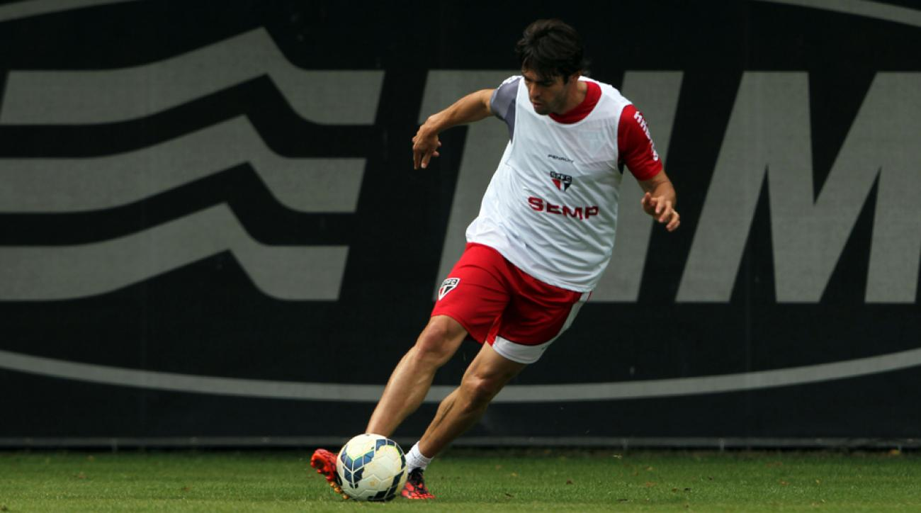 Kaka will make his Sao Paulo FC debut on Sunday while on loan from Orlando City SC.