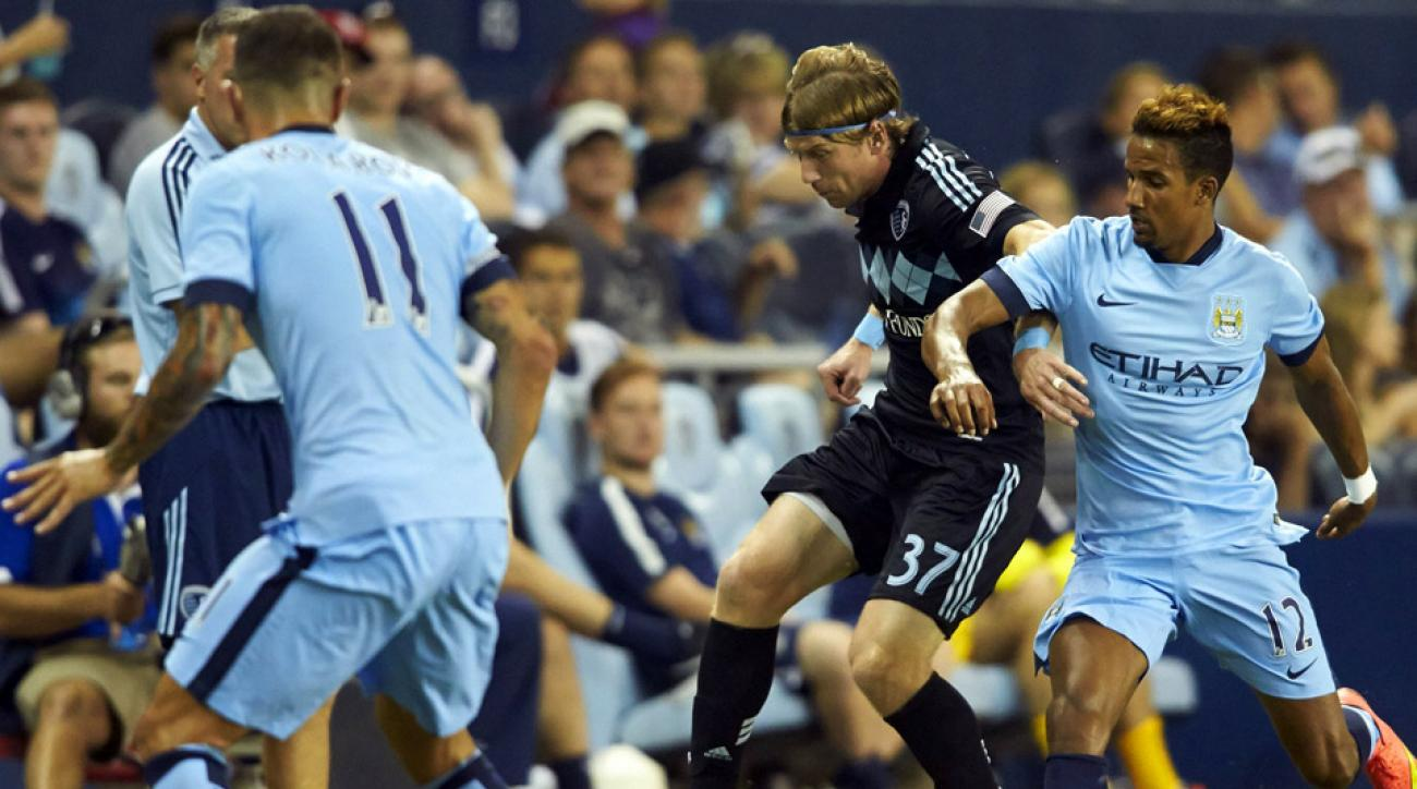 Referee Ted Unkel issued eight yellow cards, including five to Toronto, but Sporting Kansas City captain Matt Besler was sent off in the 76th and SKC still found a way to win.