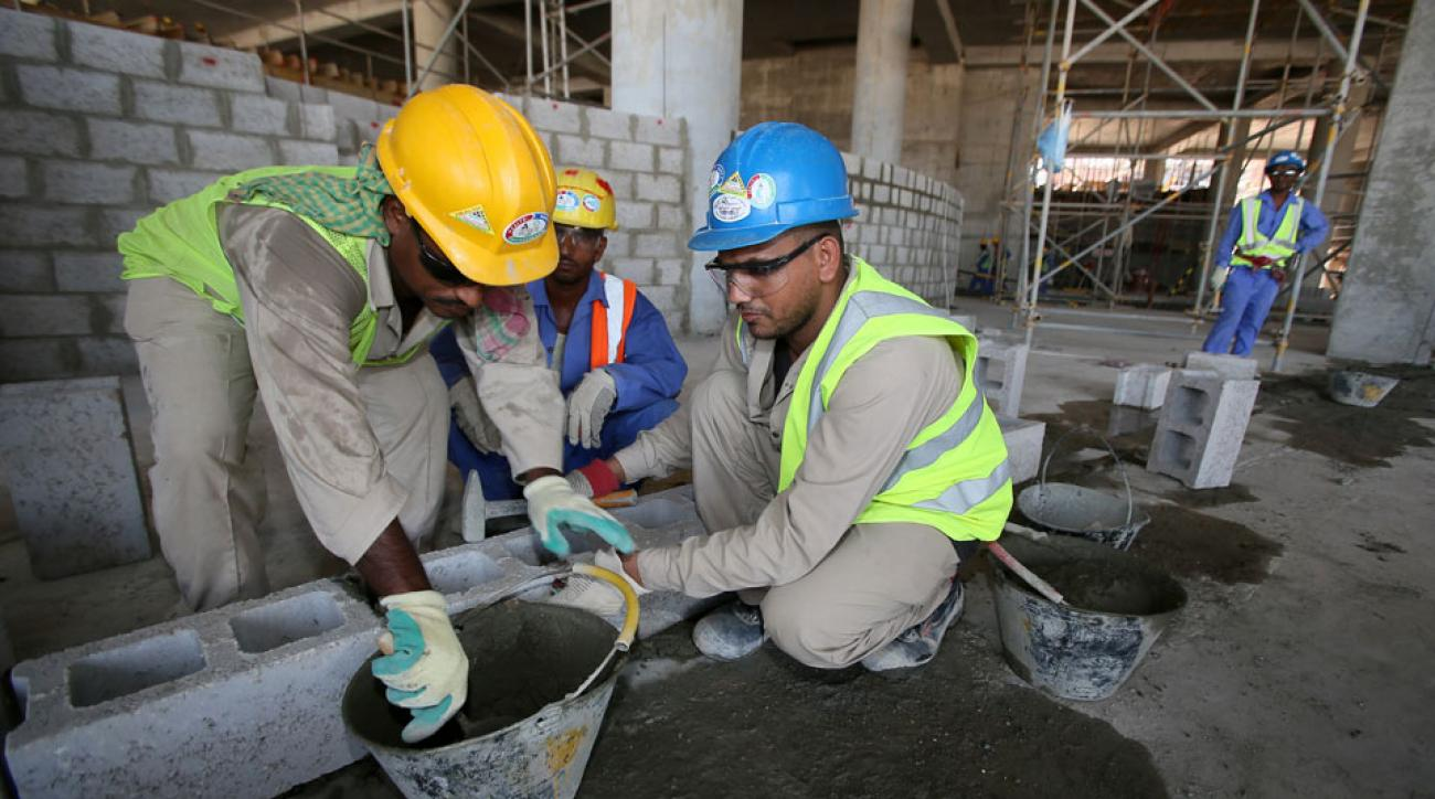 Migrant workers who built Qatar World Cup offices have not been paid in year