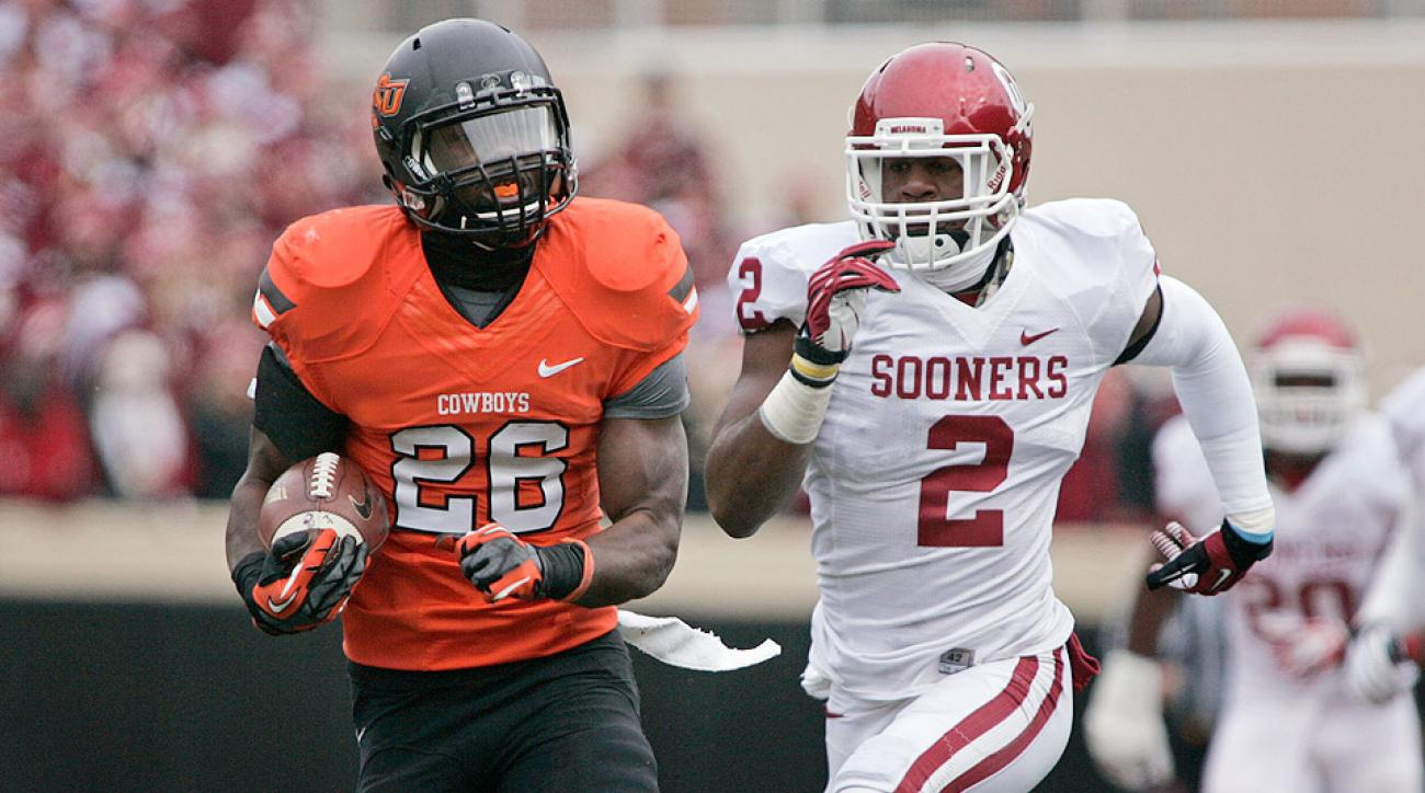 A strong north-and-south runner who doesn't waste time in the backfield, Oklahoma State's Desmond Roland could lead the Big 12 in rushing.