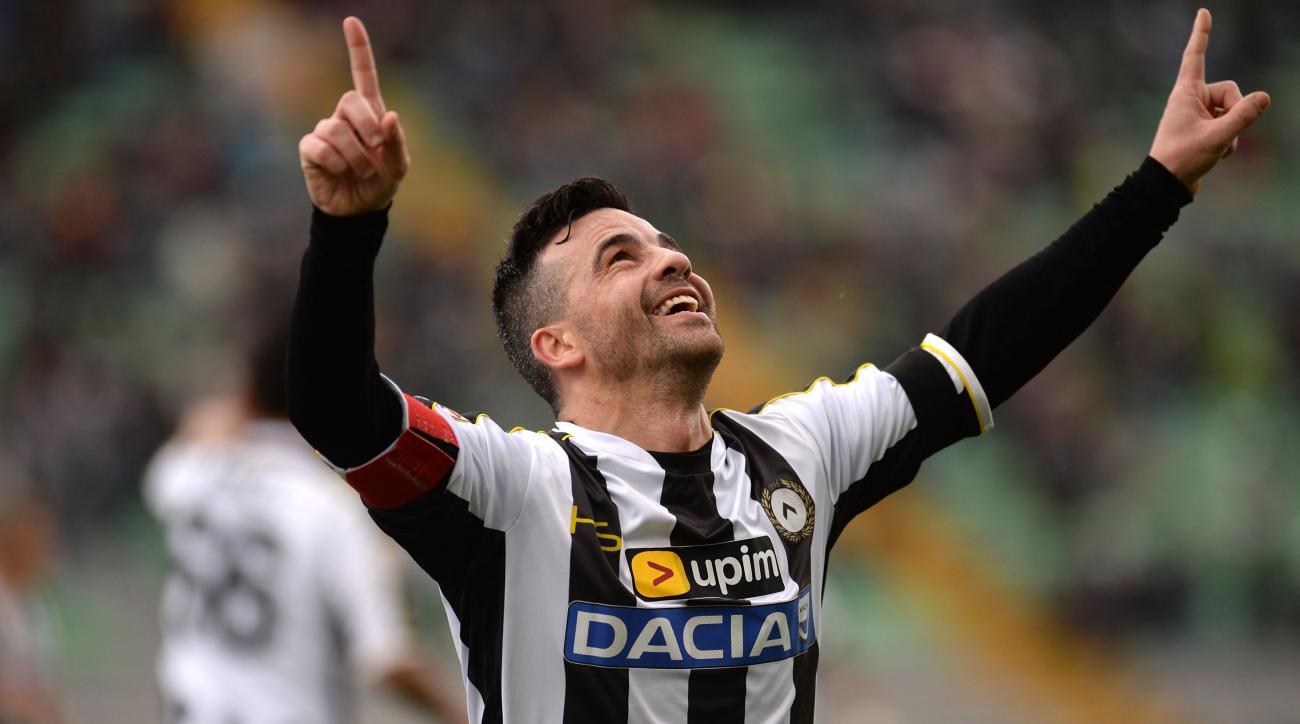Udinese striker Antonio Di Natale