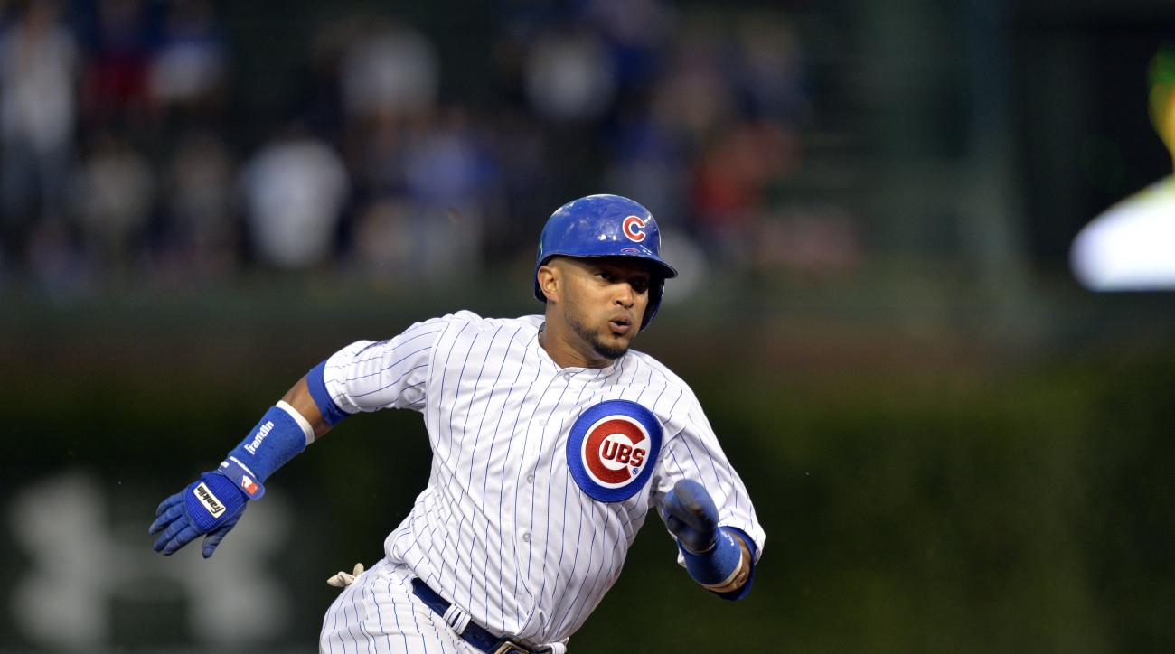 The Atlanta Braves acquired Emilio Bonifacio and James Russell in a trade with the Chicago Cubs
