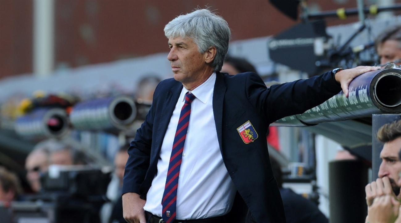 Genoa coach Gian Piero Gasperini
