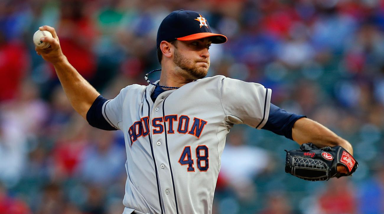 The Houston Astros traded starter Jarred Cosart to the Miami Marlins for two prospects.