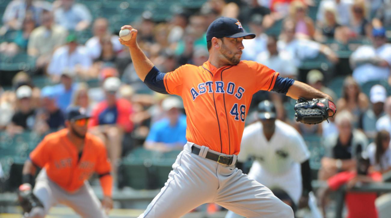 Houston Astros fielding calls for Jarred Cosart