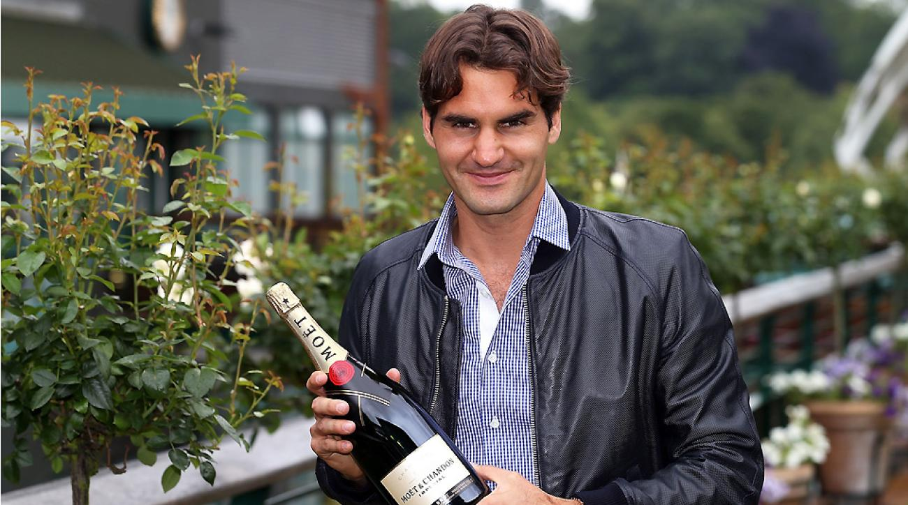 Roger Federer celebrated his No. 1 ranking in 2012 with champagne; he celebrated 2 million Twitter followers with a hilarious Q&A.