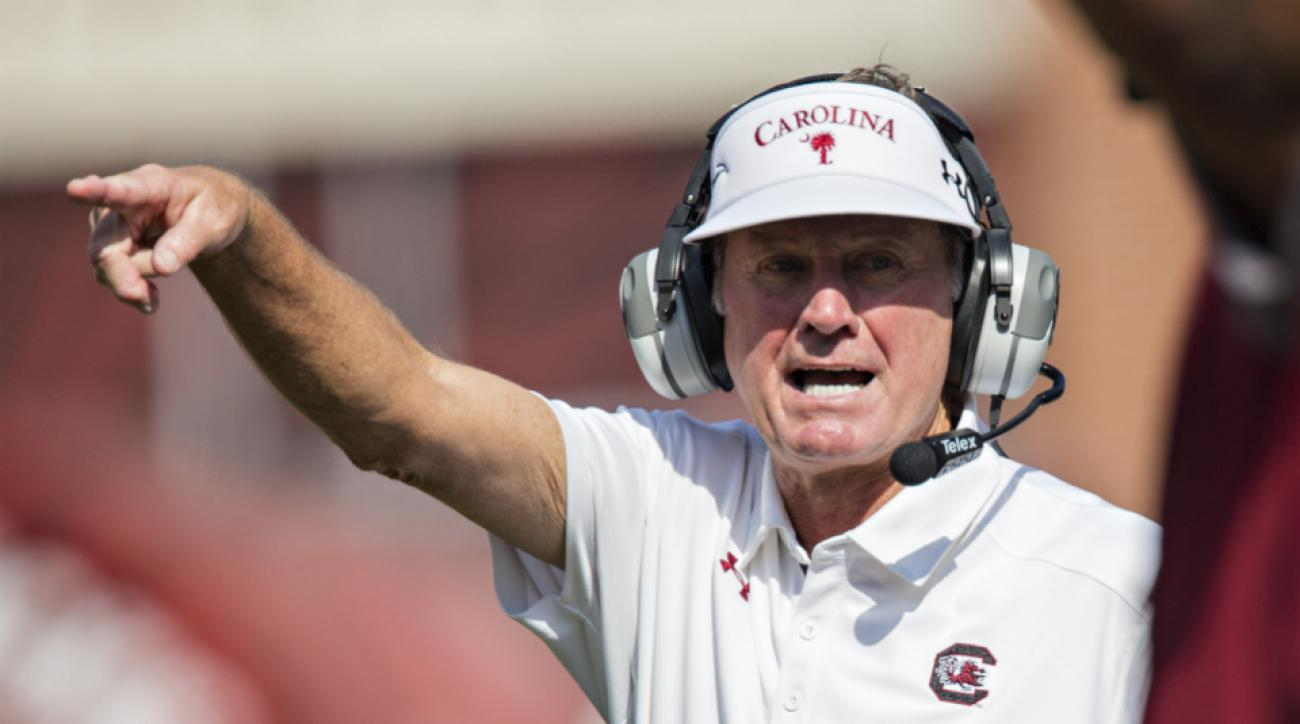 Steve Spurrier says two South Carolina recruits are eligible