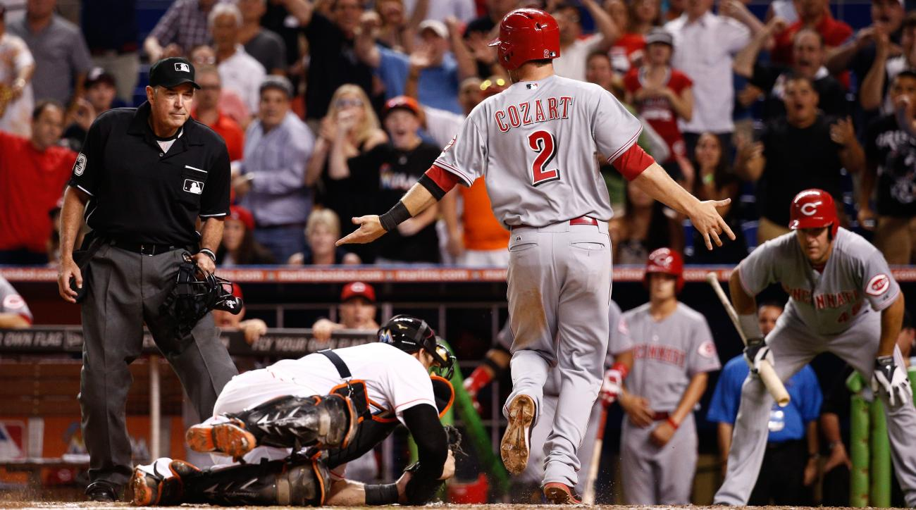 Reds-Marlins replay review MLB statement