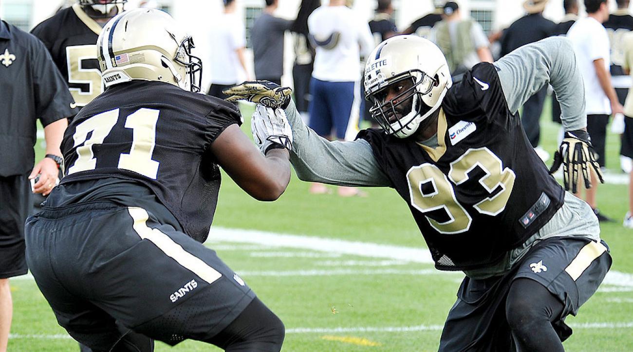 Junior Galette at New Orleans Saints camp