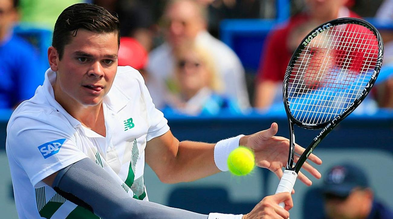 Milos Raonic defeated Donald Young 6-4, 7-5 on Saturday to reach the finals of the Citi Open.