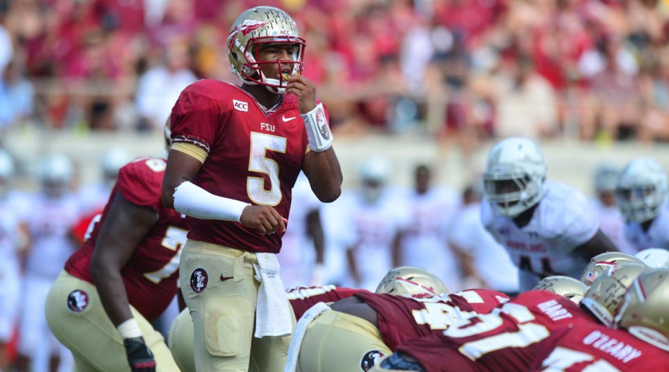 Florida State quarterback Jameis Winston is the favorite to defend his Heisman Trophy.
