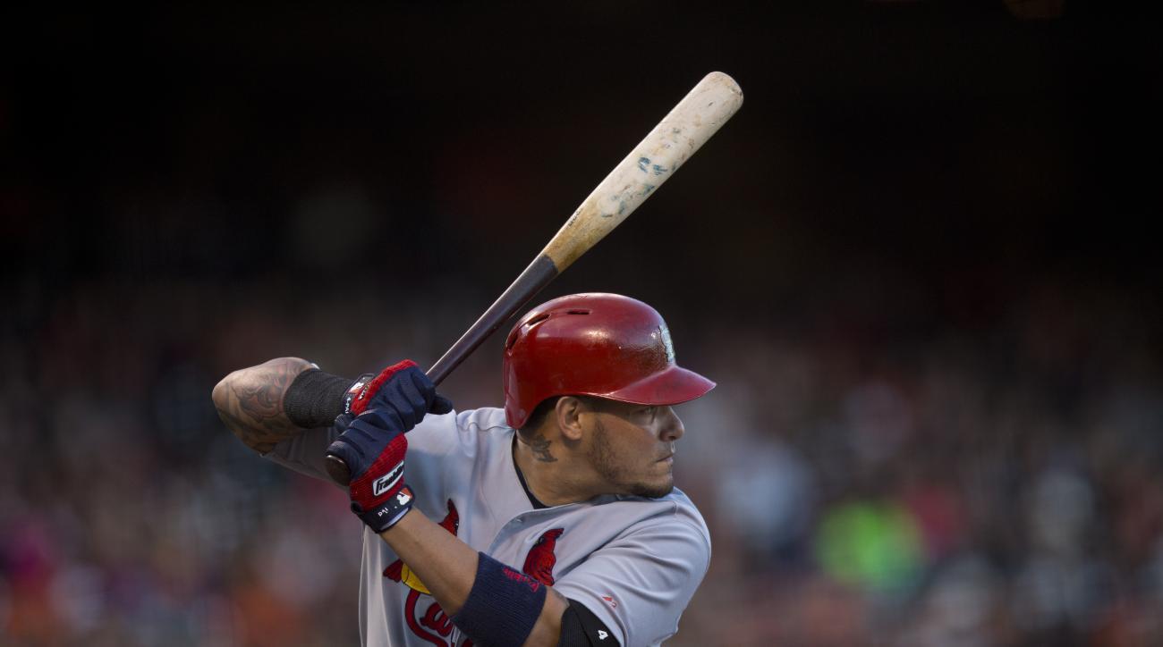 st. louis cardinals yadier molina injury thumb torn ligament