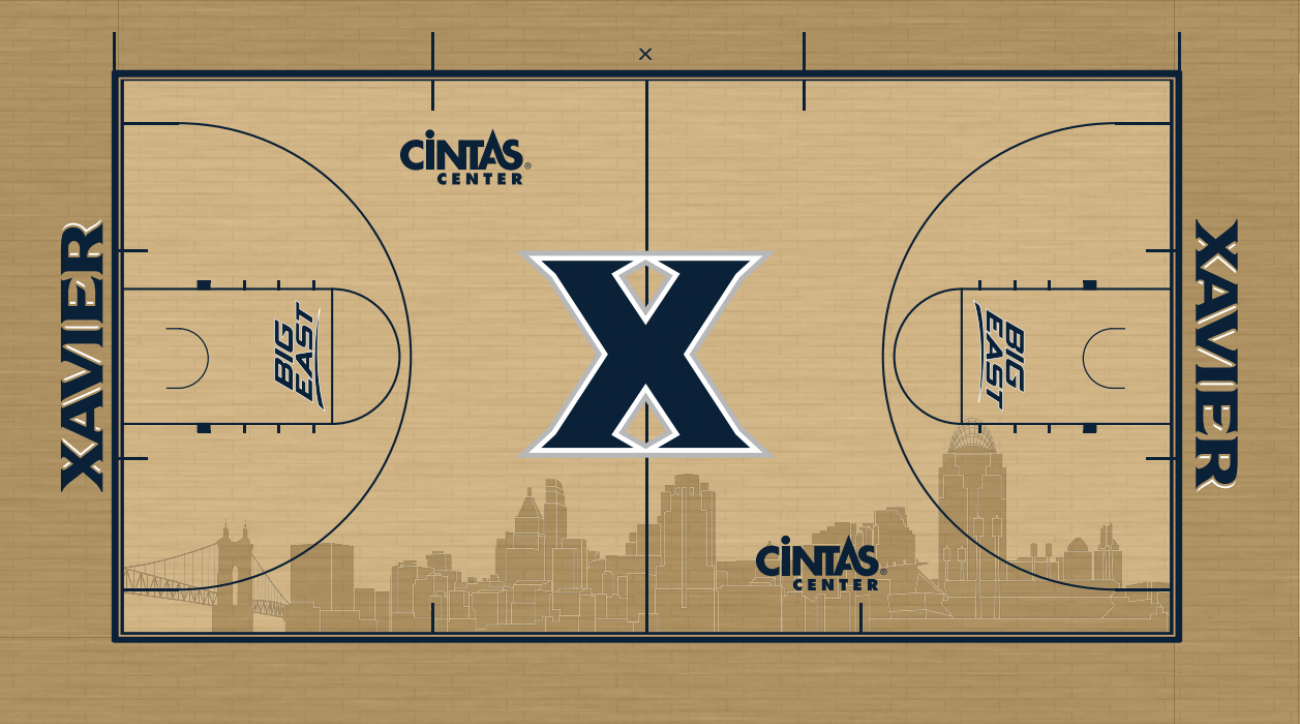 Xavier University unveiled the design for its new basketball court Monday.