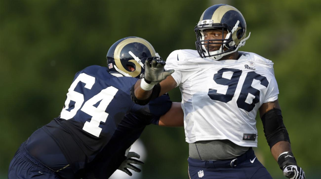 St. Louis Rams defensive end Michael Sam