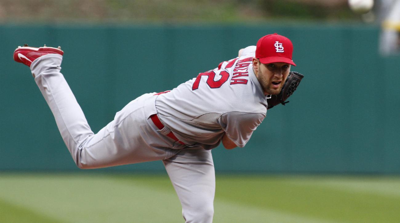 St. Louis Cardinals pitcher Michael Wacha throwing program