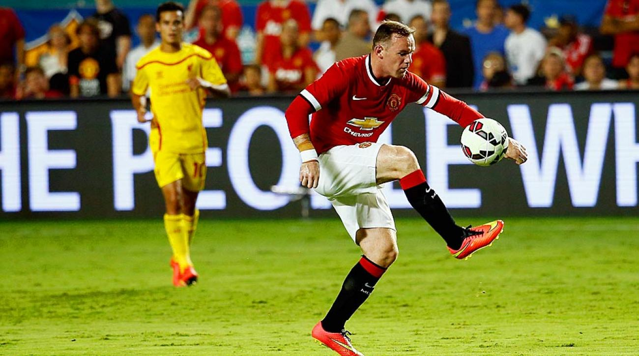 Wayne Rooney scored Manchester United's first goal of the evening on Monday to lead the Red Devils to the International Champions Cup title over Liverpool.