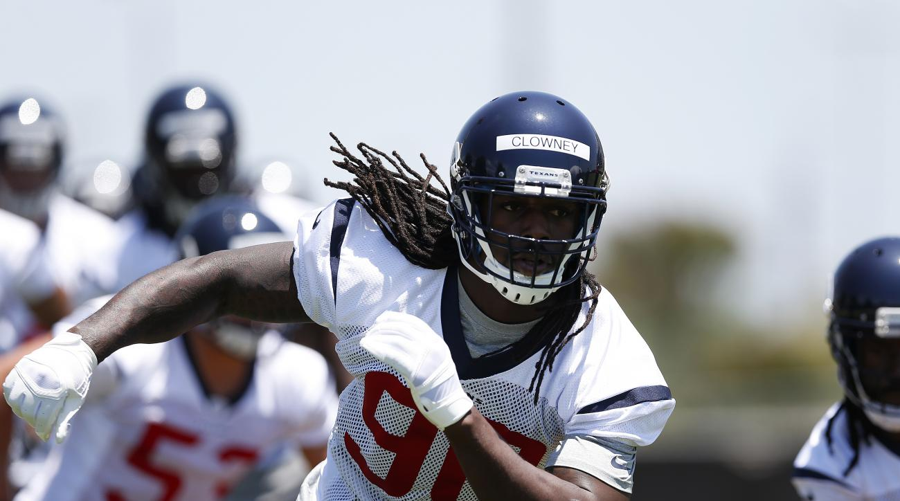 The Houston Texans released their first depth chart.
