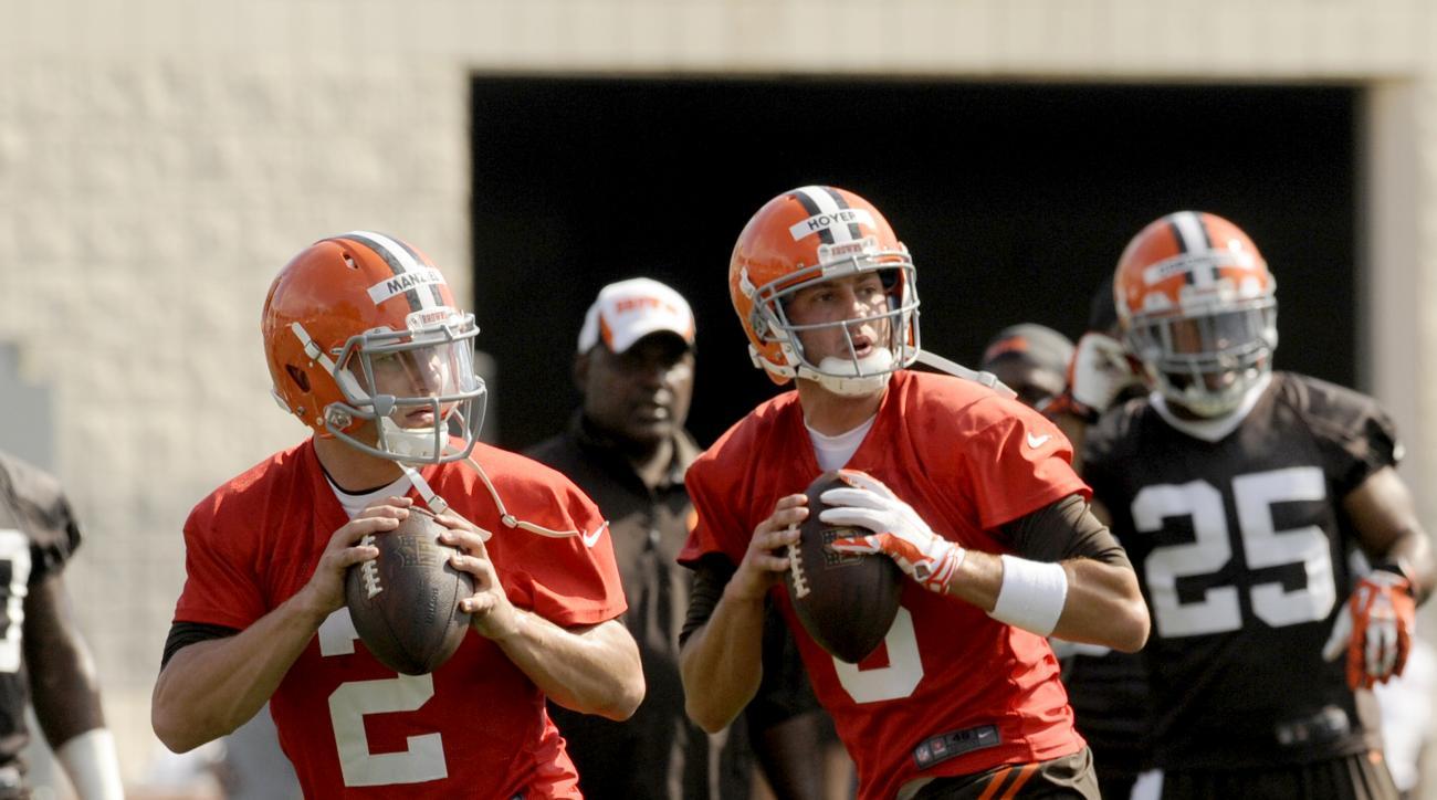 johnny manziel brian hoyer cleveland browns starting quarterback training camp