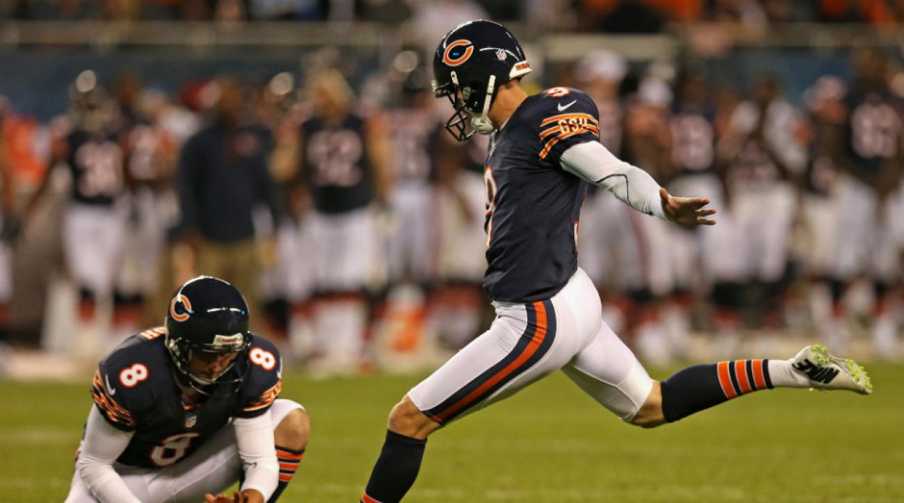 Chicago Bears kicker Robbie Gould extra points