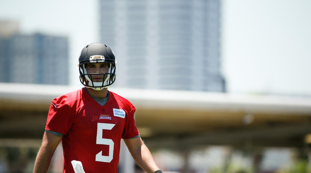 Rookie quarterback Blake Bortles is listed as a backup on the team's first depth chart.