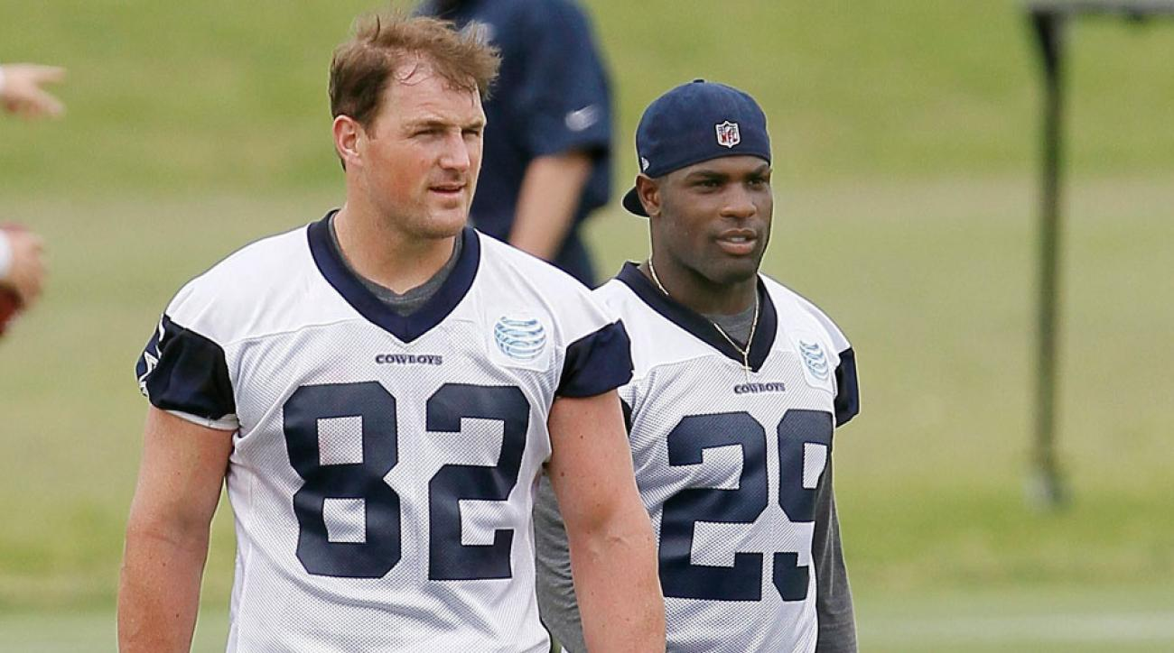 Jason Witten (L) and Demarco Murray are expected to miss the Cowboys' preseason opener
