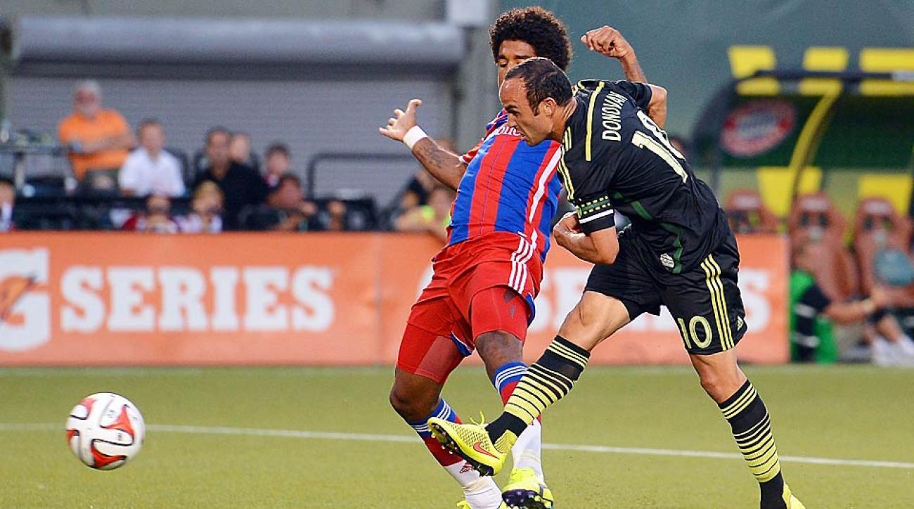 Landon Donovan's second-half goal capped a comeback win for the MLS All Stars vs. Bayern Munich.